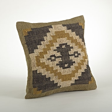 Saro Kilim Cotton Throw Pillow