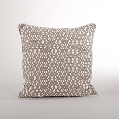 Saro Las Palmas Ikat Cotton Throw Pillow; Natural
