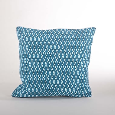 Saro Las Palmas Ikat Cotton Throw Pillow; Ocean Blue