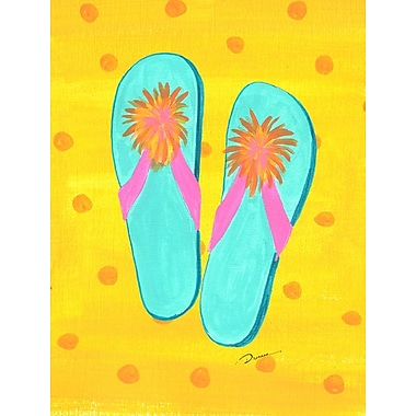 Caroline's Treasures Flip Flops yellow 2-Sided Garden Flag