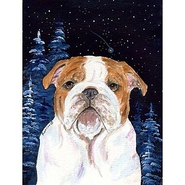 Caroline's Treasures Starry Night English Bulldog 2-Sided Garden Flag