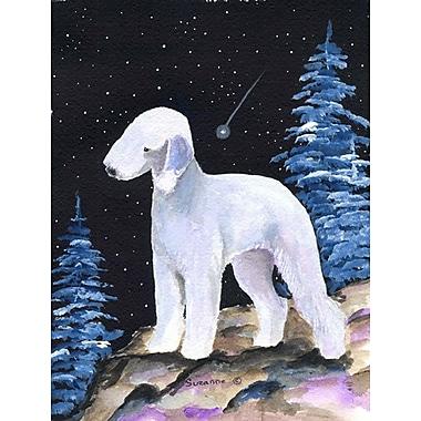 Caroline's Treasures Starry Night Bedlington Terrier 2-Sided Garden Flag