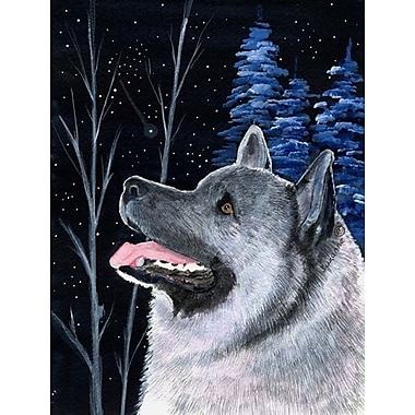 Caroline's Treasures Starry Night Norwegian Elkhound 2-Sided Garden Flag