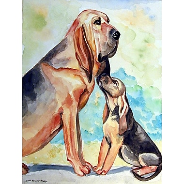Caroline's Treasures Bloodhound Momma's Love House Vertical Flag