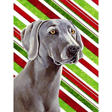 Caroline's Treasures Weimaraner Candy Cane Holiday Christmas 2-Sided Garden Flag