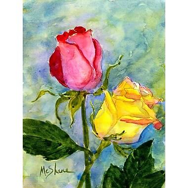 Caroline's Treasures Roses 2-Sided Garden Flag
