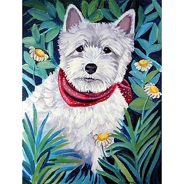 Caroline's Treasures Westie 2-Sided Garden Flag