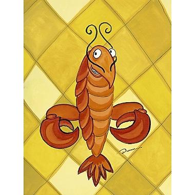 Caroline's Treasures Crawfish Craw de lis House Vertical Flag