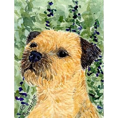 Caroline's Treasures Border Terrier 2-Sided Garden Flag
