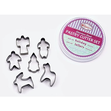 Winco 6 Piece Holiday Cookie Cutter Set