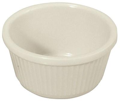 Winco Melamine 4oz Fluted Ramekins Serving Bowl (Set of 12); White WYF078277929886