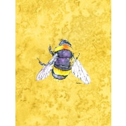 Caroline's Treasures Bee on Yellow House Vertical Flag