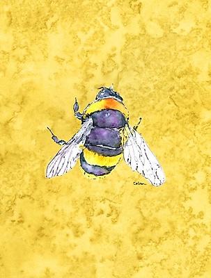 Caroline's Treasures Bee on Yellow House Vertical Flag