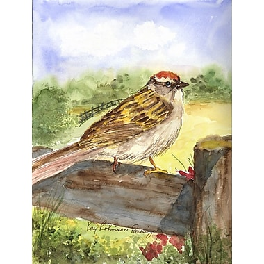 Caroline's Treasures Chipping Sparrow 2-Sided Garden Flag