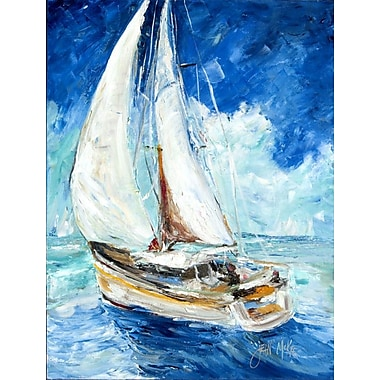 Caroline's Treasures Sailboats in Blue 2-Sided Garden Flag