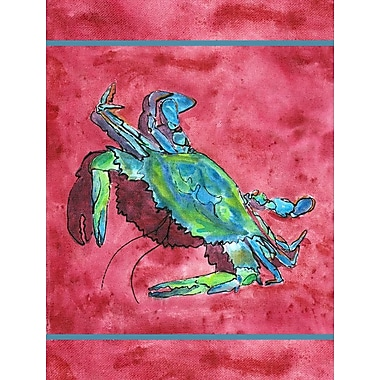 Caroline's Treasures Crab 2-Sided Garden Flag