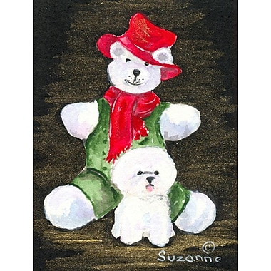 Caroline's Treasures Bichon Frise 2-Sided Garden Flag