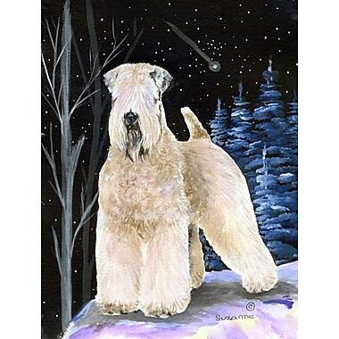 Caroline's Treasures Starry Night Wheaten Terrier Soft Coated 2-Sided Garden Flag