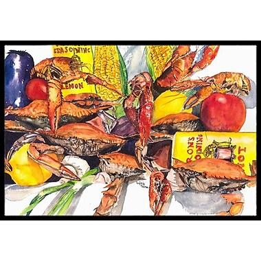 Caroline's Treasures Veron's and Crabs Doormat; Rectangle 2' x 3'