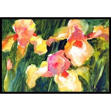 Caroline's Treasures Iris Flower Doormat; Rectangle 1'6'' x 2' 3''