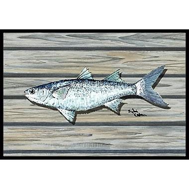 Caroline's Treasures Fish Mullet Doormat; Rectangle 2' x 3'