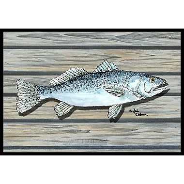 Caroline's Treasures Fish Speckled Trout Doormat; Rectangle 1'6'' x 2' 3''