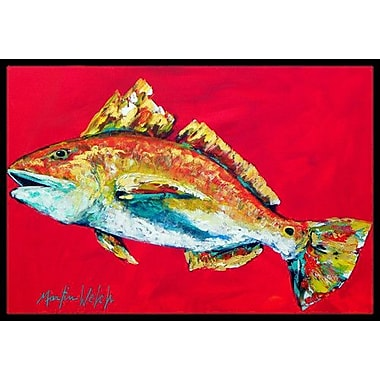 Caroline's Treasures Fish Woo Hoo Doormat; Rectangle 2' x 3'