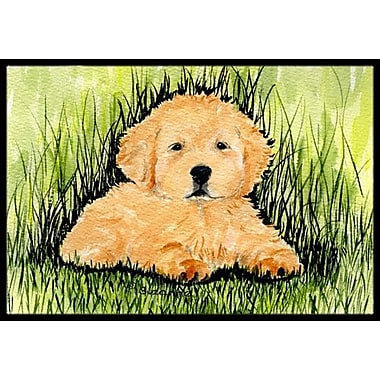 Caroline's Treasures Golden Retriever Doormat; Rectangle 2' x 3'