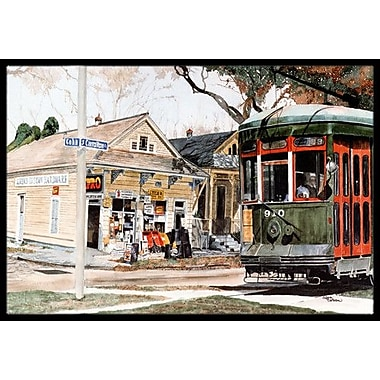 Caroline's Treasures New Orleans Street Car Doormat; Rectangle 2' x 3'