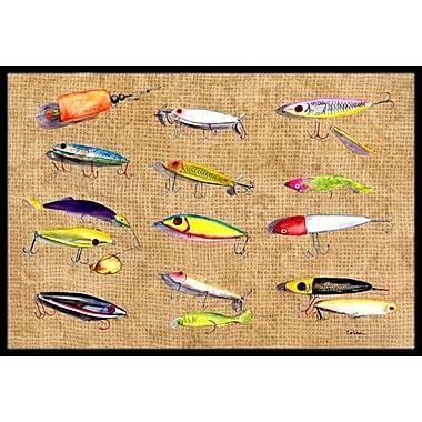Caroline's Treasures Fishing Lures Doormat; Rectangle 2' x 3'