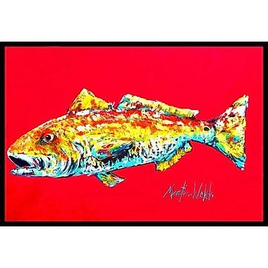 Caroline's Treasures Fish Alfonzo Doormat; Rectangle 1'6'' x 2' 3''
