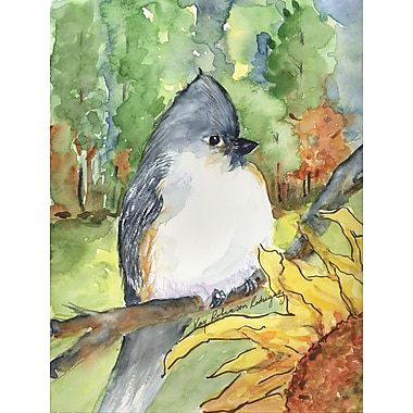 Caroline's Treasures Tufted Titmouse House Vertical Flag
