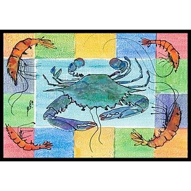 Caroline's Treasures Crab Doormat; 1'6'' x 2' 3''