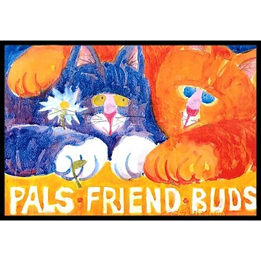 Caroline's Treasures Cats Pals Friends Buds Doormat; Rectangle 2' x 3'