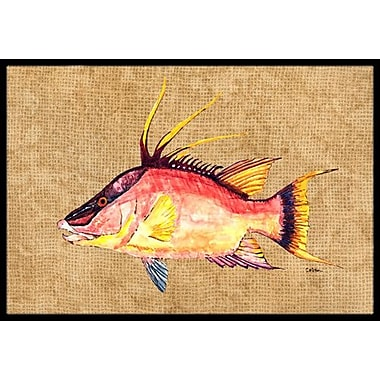 Caroline's Treasures Hog Snapper Doormat; Rectangle 2' x 3'