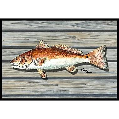 Caroline's Treasures Fish Doormat; Rectangle 2' x 3'