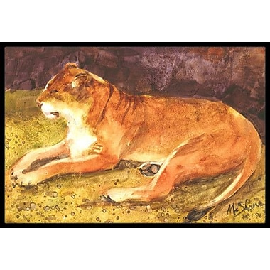 Caroline's Treasures Lion Doormat; Rectangle 2' x 3'
