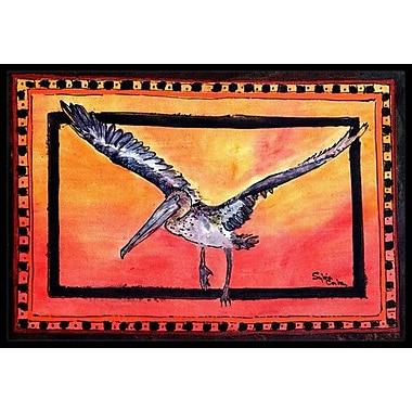 Caroline's Treasures Pelican Doormat; Rectangle 2' x 3'