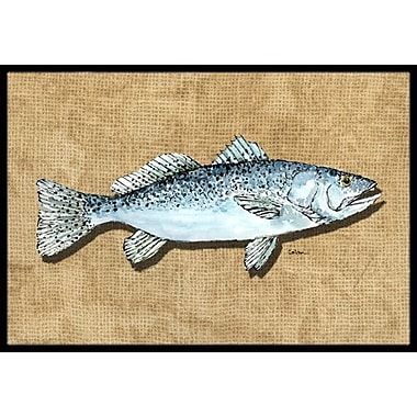 Caroline's Treasures Speckled Trout Doormat; Rectangle 1'6'' x 2' 3''