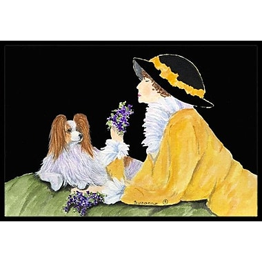 Caroline's Treasures Papillon Doormat; Rectangle 2' x 3'