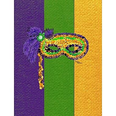 Caroline's Treasures Mardi Gras Mask House Vertical Flag