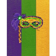 Caroline's Treasures Mardi Gras Mask House Vertical Flag