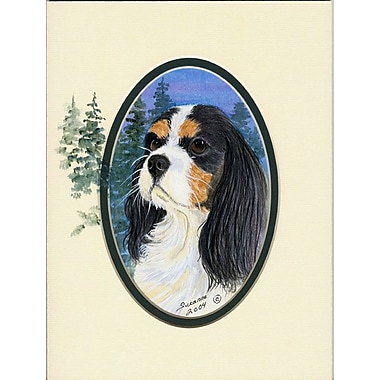 Caroline's Treasures Cavalier Spaniel House Vertical Flag