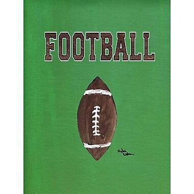 Caroline's Treasures Football House Vertical Flag