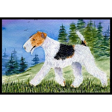 Caroline's Treasures Fox Terrier Doormat; Rectangle 2' x 3'