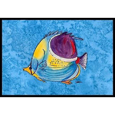 Caroline's Treasures Fish Tropical Doormat; Rectangle 2' x 3'