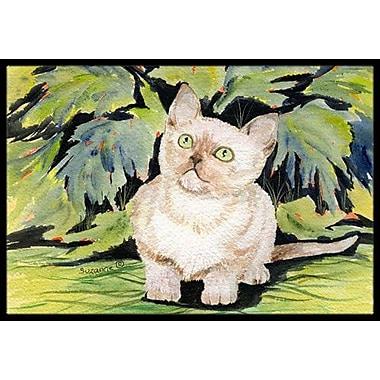 Caroline's Treasures Burmese Cat Doormat; Rectangle 2' x 3'