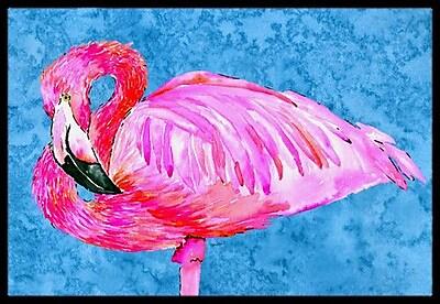 Caroline's Treasures Flamingo Doormat; Rectangle 1'6'' x 2' 3''