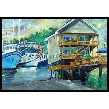 Caroline's Treasures Ocean Springs Harbour Landing Doormat; Rectangle 2' x 3'