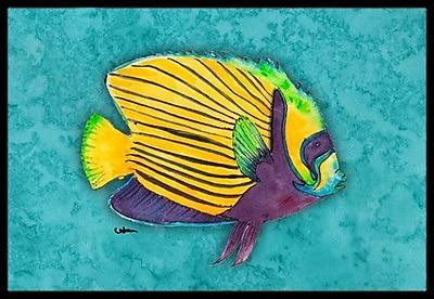 Caroline's Treasures Fish Tropical Doormat; Rectangle 1'6'' x 2' 3''